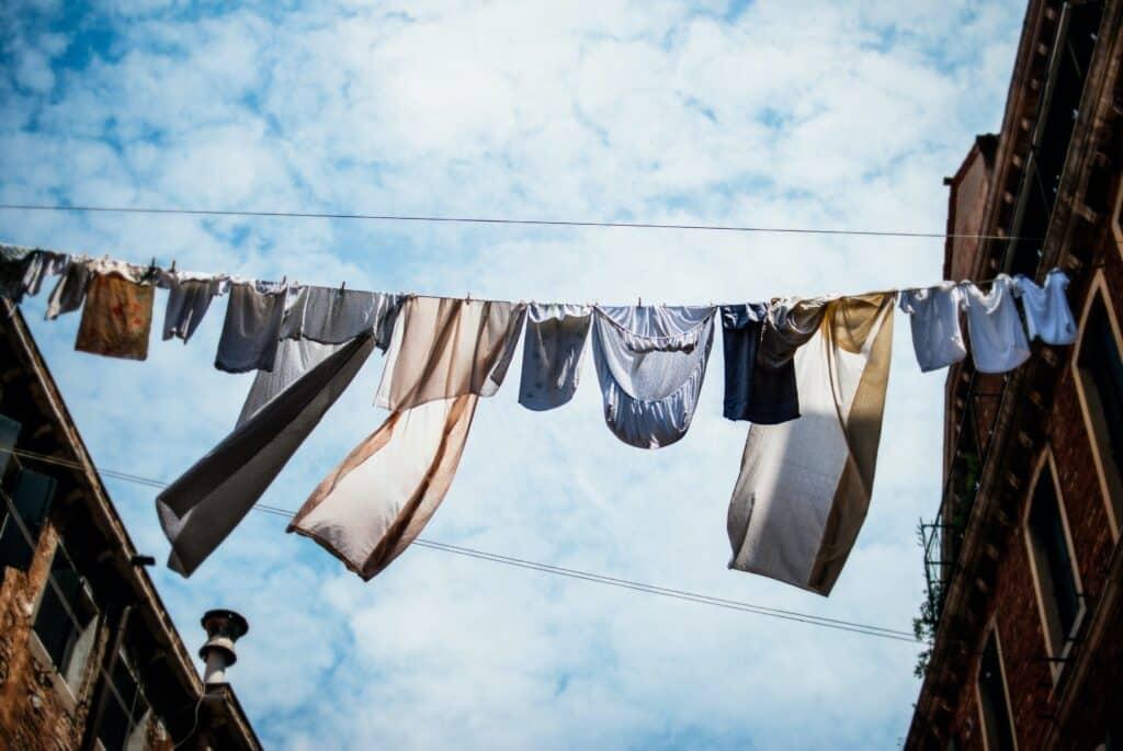 hängende Wäsche